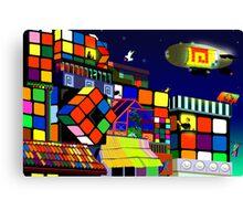 Love in Rubiksworld Canvas Print