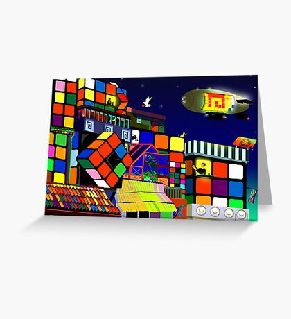 Love in Rubiksworld Greeting Card