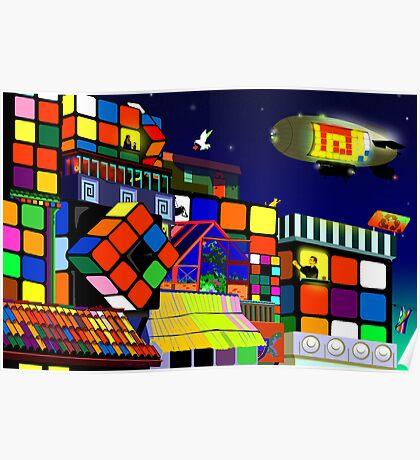 Love in Rubiksworld Poster