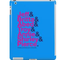 Community Character Jetset (light blue variant) iPad Case/Skin