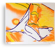 feet screen print Canvas Print