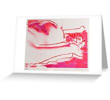 nude screen print Greeting Card