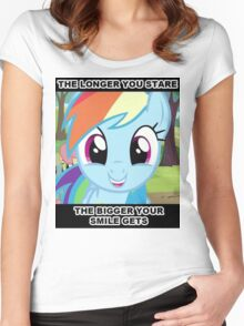 Smile At Dashie  Women's Fitted Scoop T-Shirt