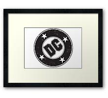 DC COMICS - VINTAGE BLACK Framed Print