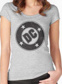 DC COMICS - VINTAGE BLACK Women's Fitted Scoop T-Shirt
