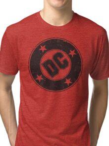 DC COMICS - VINTAGE BLACK Tri-blend T-Shirt