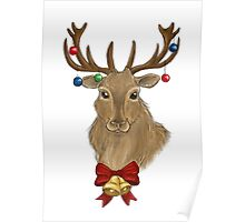 Jingle Bells Stag Poster