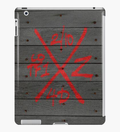 Dead Walking Zombie X-Code (RED) iPad Case/Skin