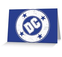 DC COMICS - VINTAGE WHITE Greeting Card