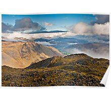 Great Slab & Langdale Pikes Poster