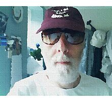 MAN IN MAROON CAP Photographic Print