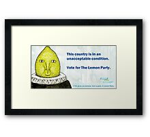 Lemon Party Framed Print