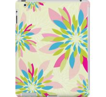 modern dahlia floral pattern 2 iPad Case/Skin