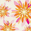modern dahlia floral pattern 3 by Kat Massard