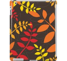 modern leaf pattern 1 iPad Case/Skin