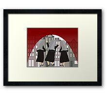 "Whimsical Nun Art ""Through the Arches"" Framed Print"