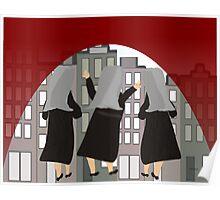"Whimsical Nun Art ""Through the Arches"" Poster"