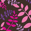 modern leaf pattern 3 by Kat Massard