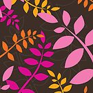 modern leaf pattern 4 by Kat Massard