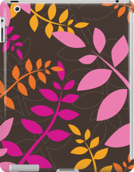 modern leaf pattern 4 by Kat Massard