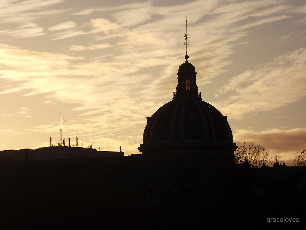 Paris skyline sunset by graceloves