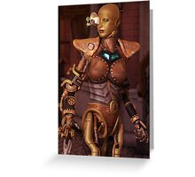 Steampunk Android Greeting Card