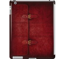 Red Leather Satchel iPad Case/Skin