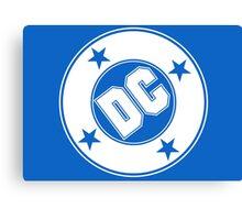 DC COMICS - WHITE Canvas Print