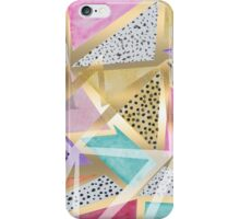 Geometric triangles watercolor hand paint pattern iPhone Case/Skin