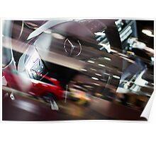 Mercedes-Benz Steering Wheel [ Print & iPad / iPod / iPhone Case ] Poster