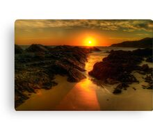 Sunrise at Burgess Beach. Canvas Print