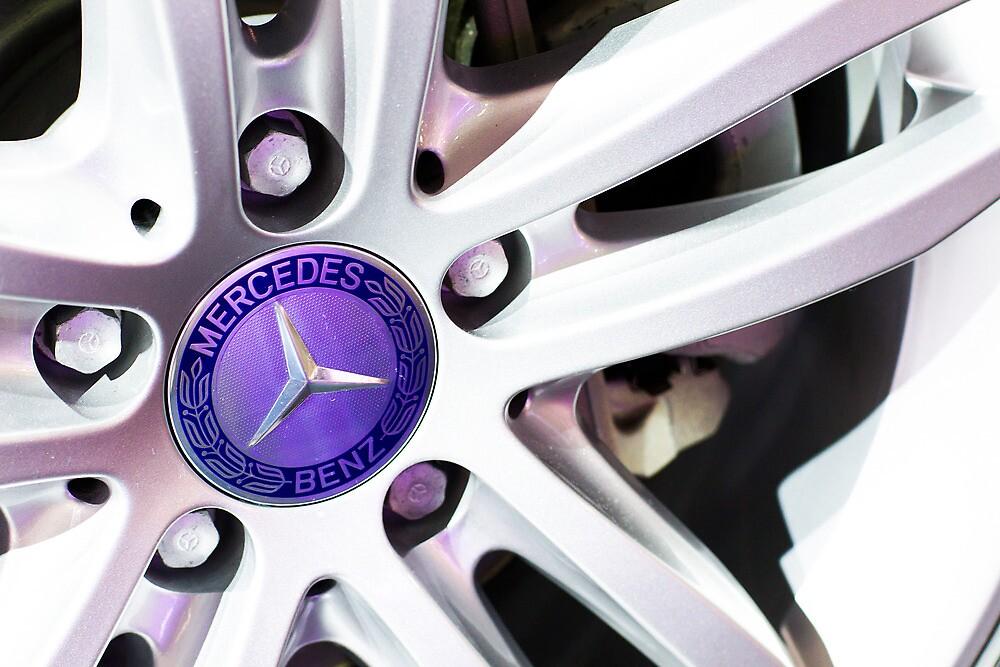 Mercedes-Benz Logo On The Car Wheel [ Print & iPad / iPod / iPhone Case ] by Mauricio Santana