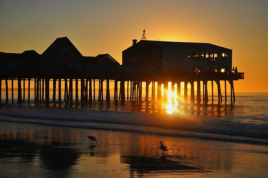 Pier Silhouette at Sunrise by Poete100