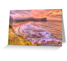 New Day Dawning  #2 - Avalon Beach, Sydney Australia - The HDR Experience Greeting Card