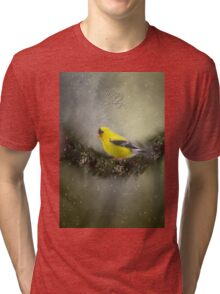 Christmas Finch Tri-blend T-Shirt