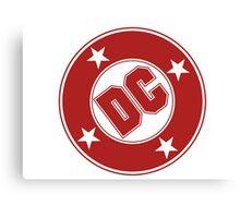 DC COMICS - CLASSIC RED LOGO Canvas Print