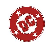 DC COMICS - CLASSIC RED LOGO Photographic Print
