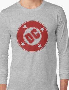 DC COMICS - CLASSIC RED LOGO Long Sleeve T-Shirt