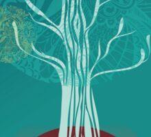 Teal Tree Sticker