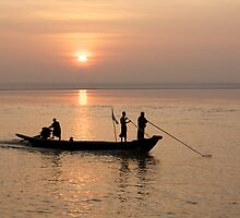 Sunset on the Ayeyarwady River, Burma by TravelShots