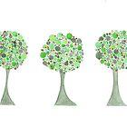 Three Christmas Trees by KeLu
