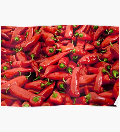 Big Red Peppers  Poster