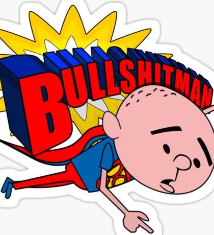 Bullshit Man - Karl Pilkington T Shirt Sticker