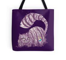 Inside wonderland (cheshire cat) Tote Bag