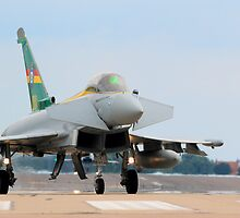 Eurofighter Typhoon FGR4 Q-0C 3 Sqn 100th Anniversary Typhoon by Clare Scott