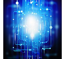 abstract circuit board Photographic Print