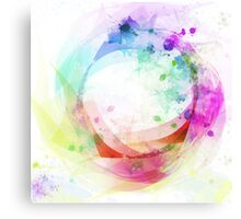 wave of circle Canvas Print