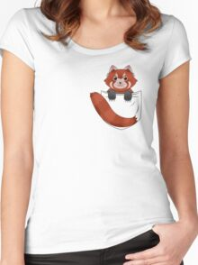 Pocket Red panda  Women's Fitted Scoop T-Shirt