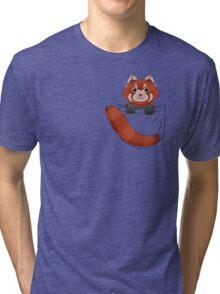 Pocket Red panda  Tri-blend T-Shirt