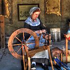 Spinning Yarn by Kathy Baccari